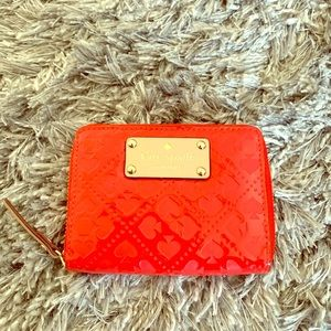 Red heart leather Kate spade wallet
